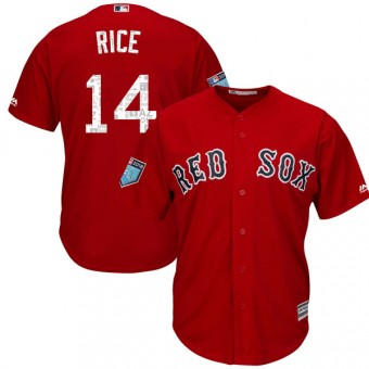 Replica Boston Red Sox Jim Rice Majestic Cool Base 2018 Spring Training Jersey - Red